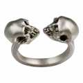 Dyple White Skull Ring