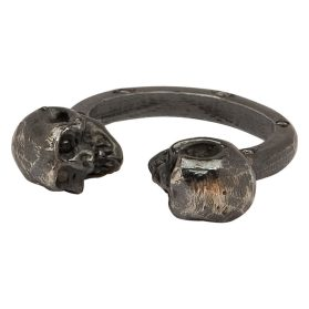 Dyple Black Skull Diamond Ring